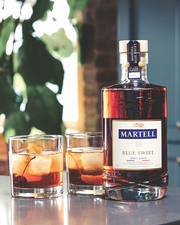 The fifth-largest Cognac brand in the U.S., Martell (Blue Swift pictured) saw growth of 10% in 2019, reaching 233,000 cases.