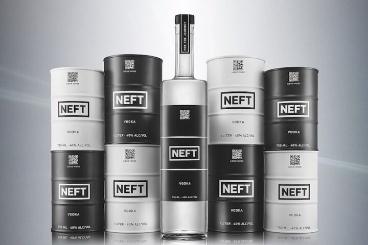 Neft, a Russian vodka brand, looks to its packaging to stand out. The brand offers eye-catching barrels in addition to standard bottles to capture a range of consumers.