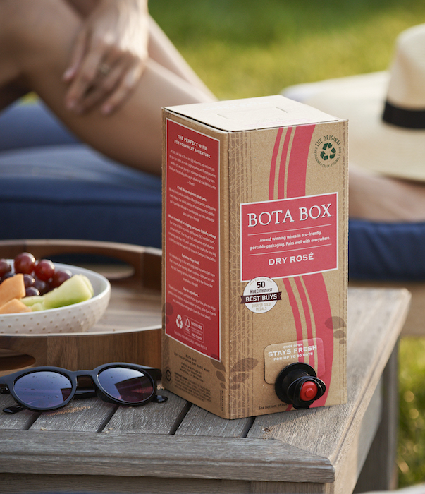 Delicato Family Wines' Bota Box (pictured) more than tripled its sales in 2020, thanks in large part to activity on e-commerce platforms.