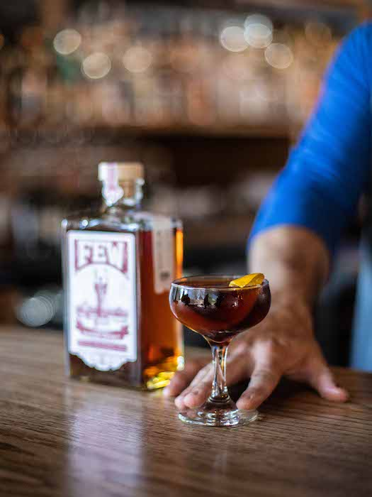 In addition to major players like Patrón and Jameson, craft brands are also hopping on the coffee train. F.E.W. Cold Cut Bourbon (pictured) from F.E.W. Spirits, which launched in September 2019, is one of a number of coffee-infused whiskies now on the market.
