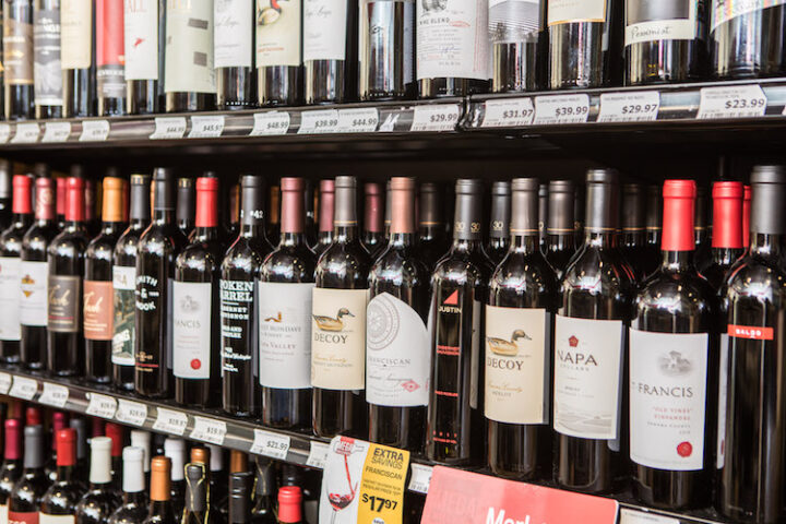 The chain recently rebranded as Mega Wine & Spirits to highlight a new emphasis on wine, with top sellers usually from California (pictured) and South America.