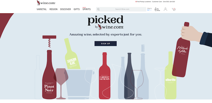 Leading online retailer Wine.com introduced its personalized wine club,