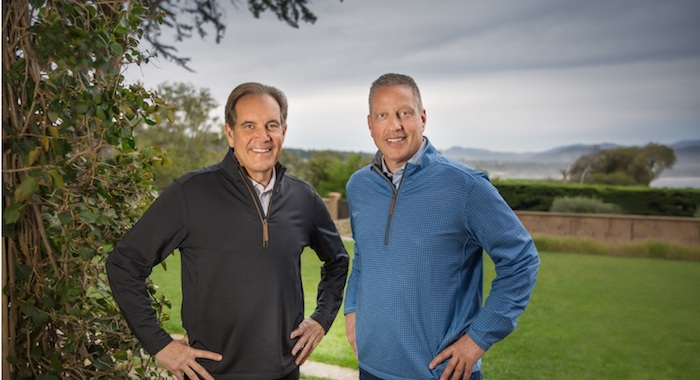 A joint venture with sportscaster Jim Nantz (pictured with Peter Deutsch), luxury California label The Calling launched in 2011. The brand, which was heavily promoted in the on-premise but has transitioned well to retail, offers 11 different labels.