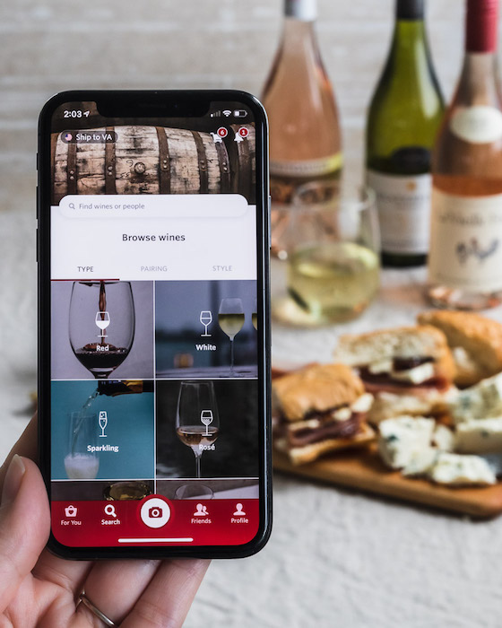 Online wine marketplace Vivino, which has hundreds of wines for sale through its website and app (pictured), experienced major growth as a result of Covid-19.