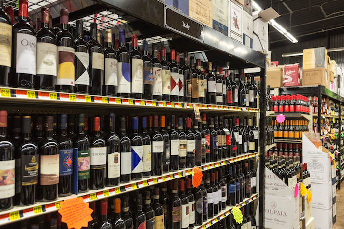 Family-owned, locally operated Acquistapace's (wine shelves pictured) has made a point to increase the number of allocated wines in recent years.