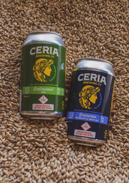 Cannabis beer options have been more prevalent in the U.S., with labels from Blue Moon creator Keith Villa's Ceria Brewing (pictured) and others available in some states.