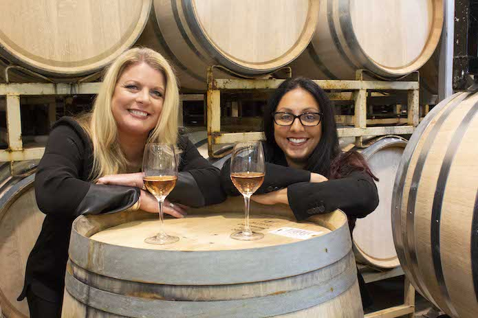 While beer and seltzer are popular avenues for cannabis beverages, dealcoholized, cannabis-infused wines are also making headway. Focused on appealing to women, House of Saka (founders Tracey Mason and Cynthia Salarizadeh pictured) launched in 2019.