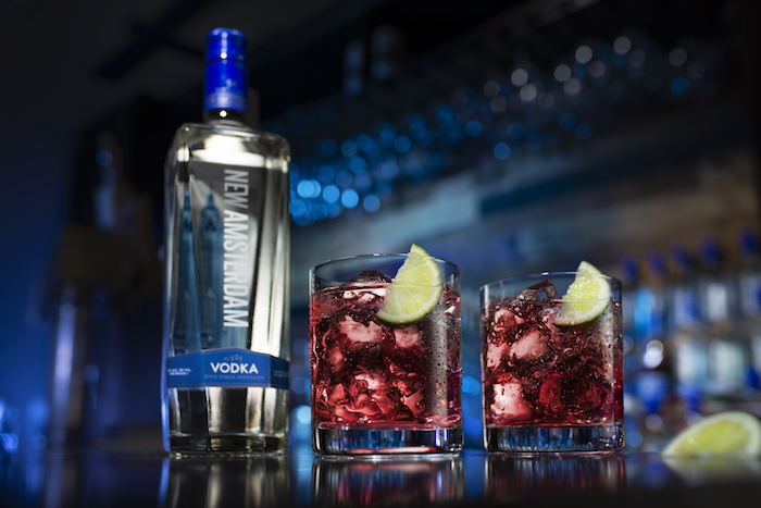 Vodka brands like New Amsterdam (cocktails pictured) are also gaining ground with consumers—especially as people continue staying home due to Covid-19.