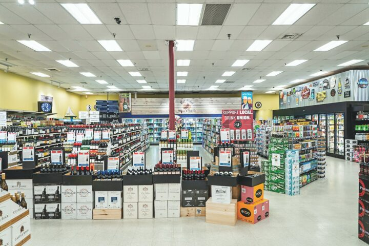 Originally comprising just 4,000 square feet, Bay Ridge Wine & Spirits (interior pictured) is now the largest liquor store in Maryland's capital city. After moving to the 10,000-square-foot location directly next door, the company eventually merged the two storefronts.