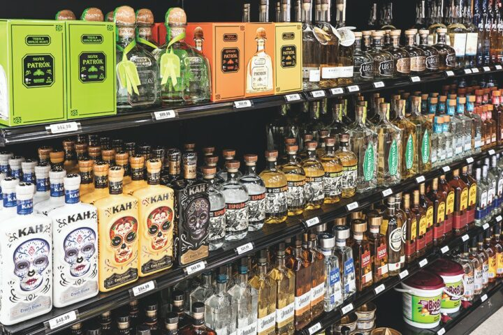 With 1,500 SKUs on offer, spirits are gaining ground at Bay Ridge, with Tequila and whiskey driving most growth.