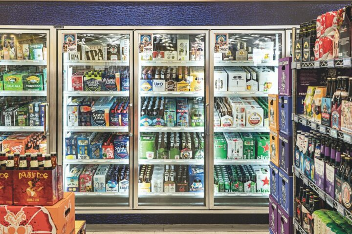 Beer comprises 22% of sales, with most coming from craft offerings such as Dogfish Head. Canned cocktails like E. & J. Gallo's High Noon Sun Sips and Cutwater from Anheuser-Busch InBev are also making waves.