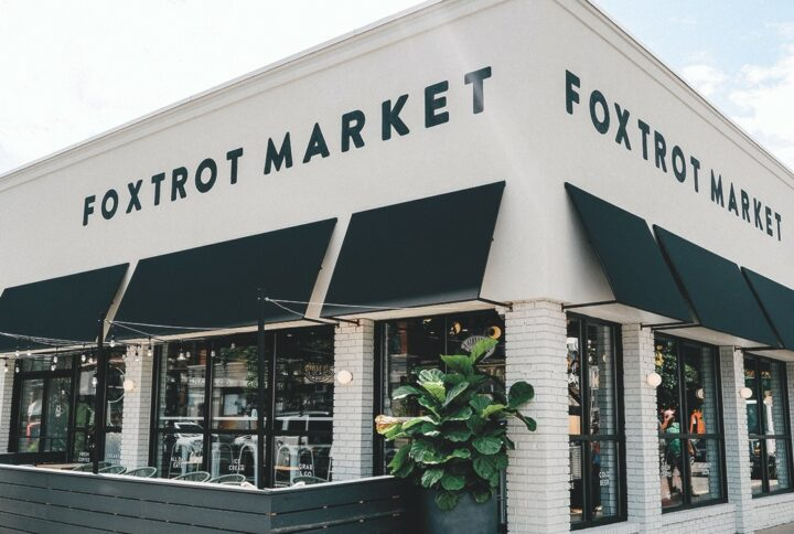 Based in Chicago, Foxtrot Market (Chicago Oldtown exterior above) now has ten locations, including two in Dallas. The chain is looking to bolster its presence in 2021 by opening two stores in Washington, D.C. and doubling its store count by year's end.