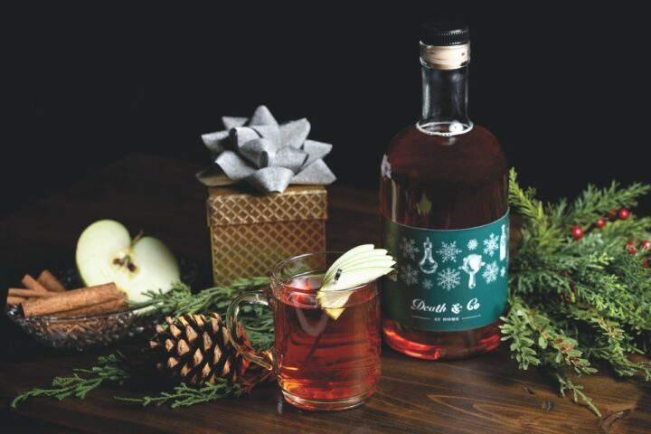 Bars like New York-based Death & Co. are now selling popular cocktails, such as the Hibernal Toddy (pictured), for at-home consumption.