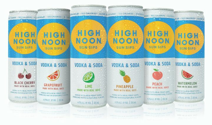 E. & J. Gallo's High Noon Sun Sips, a canned Vodka Soda, has skyrocketed since its 2019 release, reaching nearly 3 million cases in just its second year on the market.