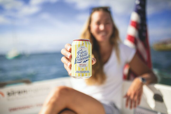 Craft brand Fishers Island Lemonade, which launched in 2014 and received wide distribution in 2019, was one of the top three canned cocktails sold via Drizly in 2020.