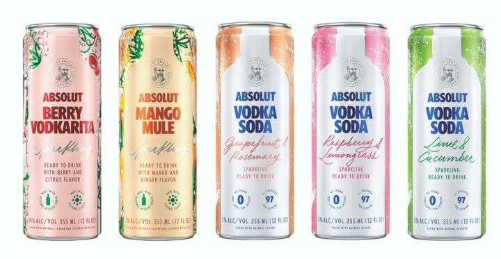 Pernod Ricard has jumped into the canned cocktail fray with a lineup of offerings from its Absolut vodka brand.