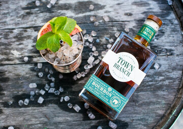 The Back to the Track Julep (pictured), made by Carley Gaskin of Hospitality 201 in Chicago, combines Town Branch Bourbon, honey, a grapefruit slice and fresh mint.