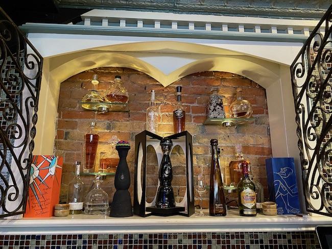 At its Denver location, Rio Grande boasts a vault (pictured) to showcase its most upscale Tequilas, such as 1800 Colección Extra Añejo, Jose Cuervo Aniversario, Clase Azul Ultra Añejo, and Gran Patrón Piedra Extra Añejo.