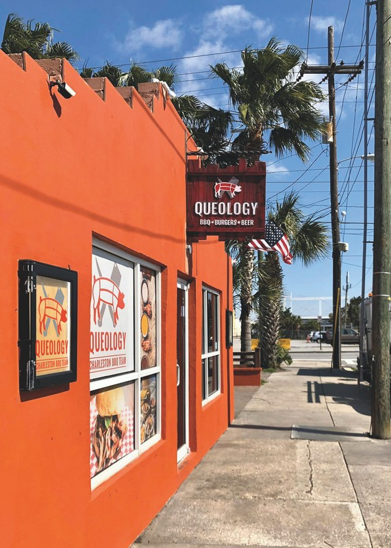 Queology (exterior pictured) is Charleston Hospitality Group's barbecue-focused concept.
