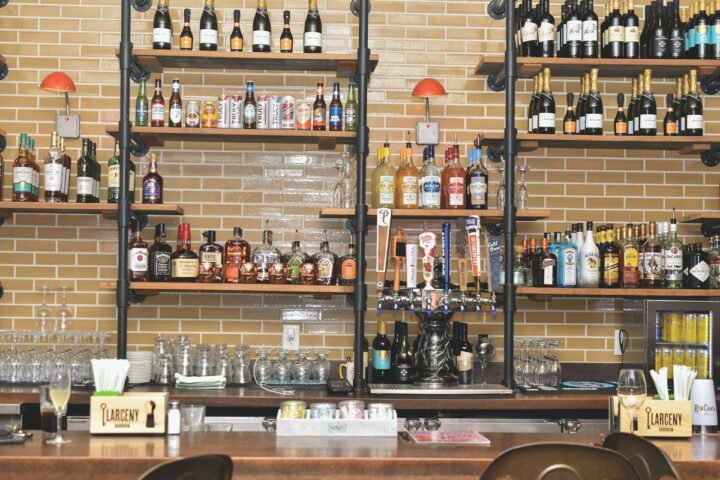 Charleston Hospitality Group curates its beverage lists specially for each concept, with breakfast- and brunch-friendly drinks dominating the menu at Toast (bar pictured).