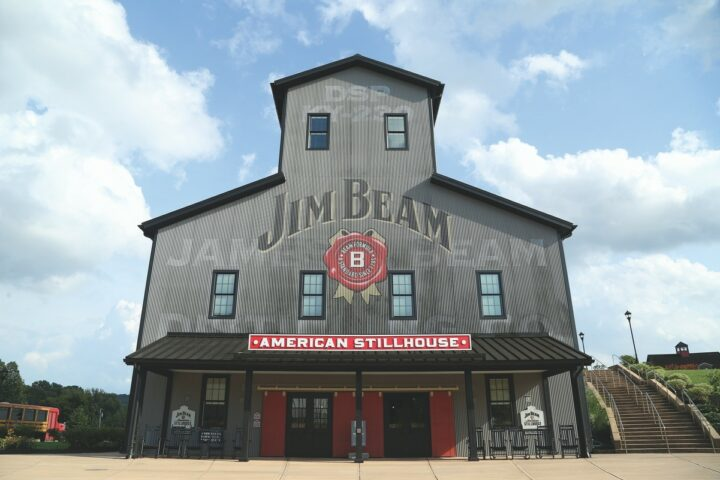 Major whiskey players like Jim Beam (stillhouse pictured) have bolstered their lineups by leaning into flavors. Jim Beam's flavor portfolio currently features six expressions: Apple, Peach, Vanilla, Honey, cinnamon-flavored Fire, and black cherry-flavored Red Stag.