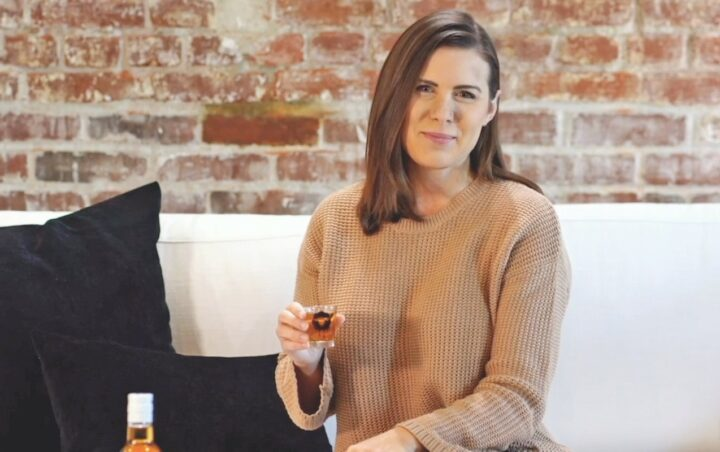 Skrewball Peanut Butter whiskey (co-founder Brittany Merrill Yeng pictured) has skyrocketed since its limited 2018 launch, depleting more than 580,000 cases in 2020. The surging brand is bringing new drinkers to flavored whiskey.