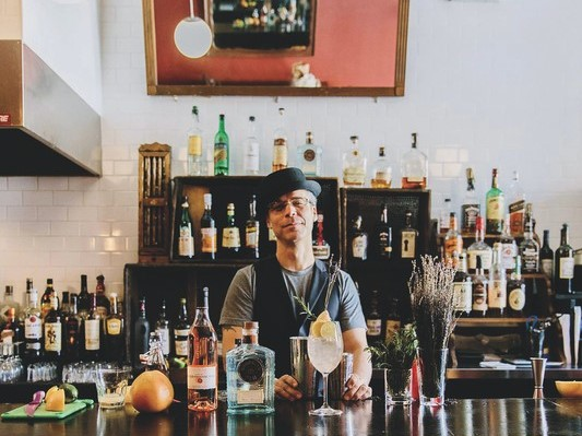 Drawing on two decades of experience, Michael Neff (pictured) of The Cottonmouth Club in Houston makes bespoke cocktails for his customers.