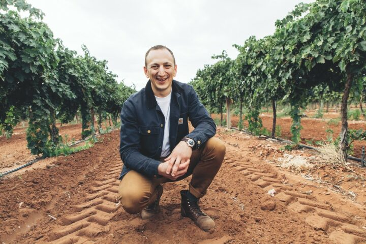 Like Angove Family Winemakers, Deliquente Wine Co. (owner and winemaker Con-Greg Grigoriou pictured) is focused on sustainability.