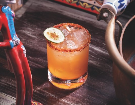 At Lucky Day in Las Vegas, the Dulce Mexicana (pictured) mixes silver Tequila, orange crema liqueur, mango habanero syrup and chamoy candy mix.