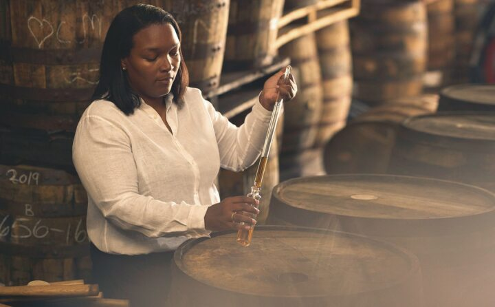 Despite on-premise closures because of Covid-19, Mount Gay is still seeing success in the U.S. The brand has switched to digital events, hosting small virtual tastings with master blender Trudiann Branker (pictured) and social media influencers.