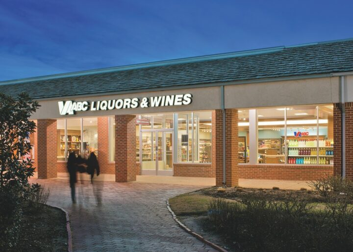 Local products fared well at Virginia ABC stores (Williamsburg exterior pictured) last year. Virginia distilled spirits grew 15.2% in 2020, with some of the fastest-growing producers including Virginia Distilling Co., A. Smith Bowman Distillery, and Springfield Distillery.