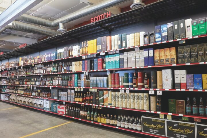 In Seattle, Downtown Wine & Spirits (Scotch shelves pictured) first partnered with Drizly in 2014 as a way to reach more consumers. Thanks to the ease of plug-and-play services, Drizly says that e-commerce could account for up to 20% of beverage alcohol sales in 5 years.