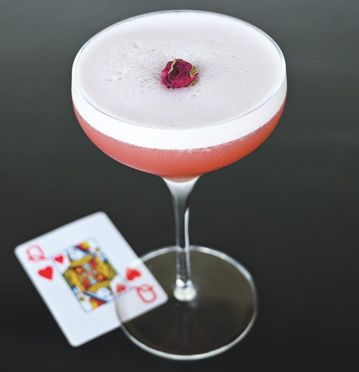 Donovan's Meatery offers a comprehensive wine program along with specialty cocktails like the Queen of Hearts (pictured).