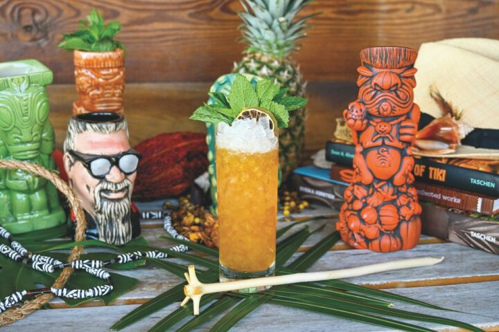Inspired by Chicago's classic Three Dots and a Dash tiki bar, Burnt Ends (Swizzle cocktail pictured) looks to bring together barbecue and tiki concepts—a first for the Tampa area, according to the Perrys. The concept focuses on rum and classic tiki drinks.