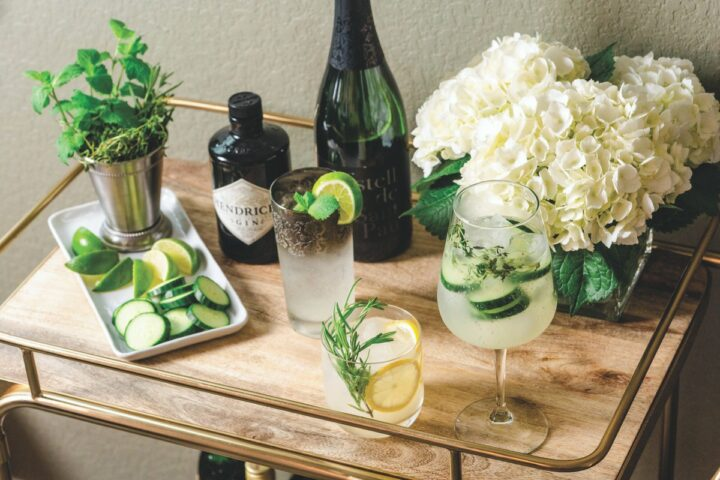 Super-premium brands like Hendrick's (cocktails pictured) have continued to make a splash in the gin space as consumers focused on cocktail making at home during the Covid-19 pandemic.