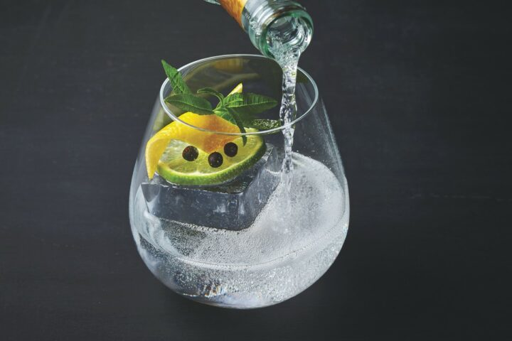 The Ultimate Gin & Tonic (pictured) from Jaleo by José Andrés at The Cosmopolitan in Las Vegas brings elevated flavors to classic drinks.