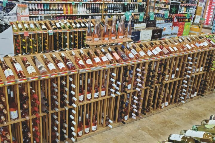 At the Happy Harry's Bottle Shop chain, which has locations in Fargo and Grand Forks, North Dakota (pictured), new rosé offerings are flooding the shelves.