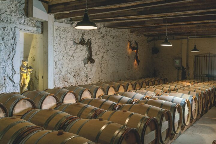 Acquired by Moët Hennessy in 2019, Whispering Angel from Château d'Esclans (cellar pictured) remains the top rosé in the U.S., increasing 7% to 525,000 cases in 2020.