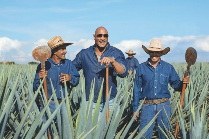 """While Diageo-owned Casamigos, founded by George Clooney and Rande Gerber, leads the pack, Teremana, founded by Dwayne """"The Rock"""" Johnson (pictured), is a burgeoning celebrity-backed Tequila."""