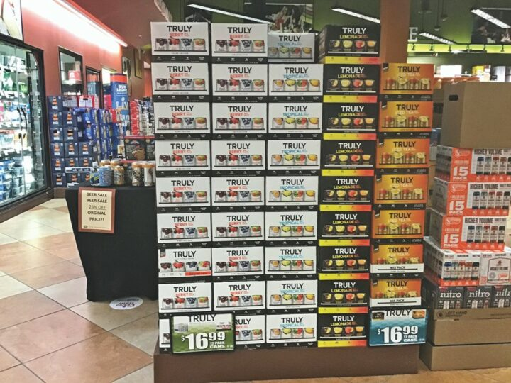 Brands like Boston Beer Co.'s Truly (pictured at Florida-based ABC Fine Wine & Spirits) are constantly adapting and innovating their product in order to drive sales.