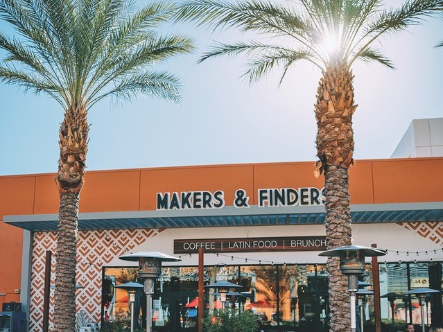 Makers & Finders (right), which has two locations off the Vegas Strip, is seeing an uptick in beverage alcohol sales since its reopening post-pandemic.
