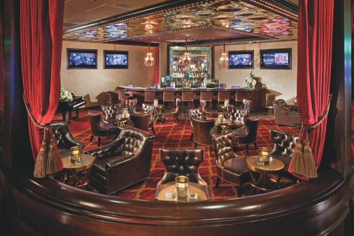 To operate under state and federal Covid-19 regulations, El Cortez (The Parlour Bar pictured), the longest-running hotel and casino in Las Vegas, implemented several new distancing and cleaning protocols throughout the pandemic.
