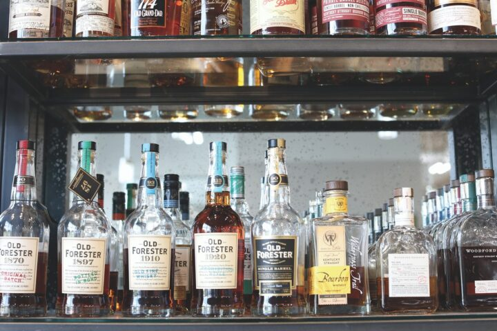 Bourbon remains on fire at Kentucky-based retail chain Liquor Barn (bottles pictured). The Covid-19 pandemic did nothing to stop the category's momentum, either, as 2020 saw Bourbon deplete nearly 26 million 9-liter cases, according to Impact Databank.