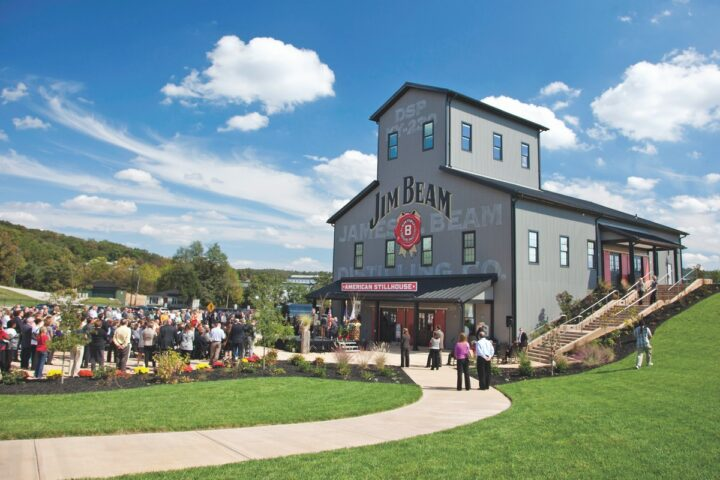 Beam Suntory is one of the top players in the Bourbon category. Jim Beam (stillhouse pictured), grew nearly 6% last year to 4.5 million cases, while other super-premium brands in its stable, like Maker's Mark, Knob Creek, and Basil Hayden's, also gained ground.