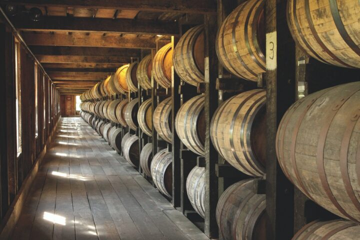 Heaven Hill (barrels pictured) brands did very well at retail in 2020, but Bourbon is still popular in the on-premise at venues like Repeal Bourbon & Burgers in Virginia Beach, Virginia.