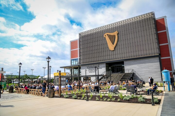 Guinness' three-year-old Open Gate brewery and taproom (pictured) in Baltimore has provided an overall halo effect on the Guinness brand in the mid-Atlantic area.