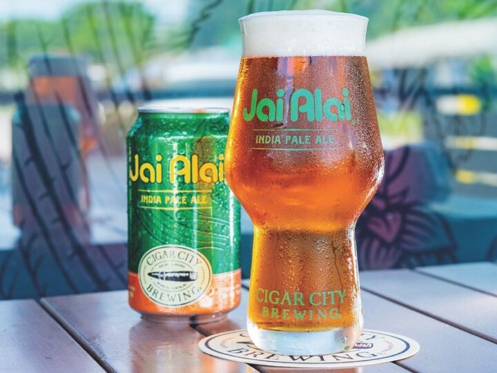 IPA's are one of the most versatile beer options, with style subsets including West Coast, East Coast, hazy, imperial, white, black, and more. Hazy IPA's like Cigar City Brewing's Jai Alai (pictured) are becoming increasingly popular.