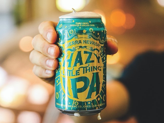 Another popular hazy IPA is Sierra Nevada's Hazy Little Thing (pictured), which skyrocketed 40% to four million cases last year.