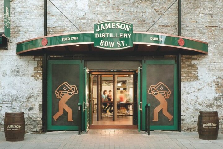 Jameson Irish whiskey (Jameson Distillery Bow Street doors pictured) from Pernod Ricard's Irish Distillers remains the category's standout star, encompassing more than 75% share of the category as a whole in 2020 with 3.6 million cases.