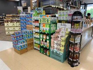At Mid Valley Wine & Liquor in Newburgh, New York (pictured), spirits-based RTD cocktails are up 35% this year over 2020.